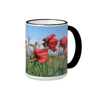 Poppies Ringer Mug