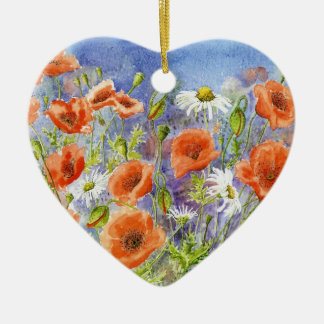 'Poppies n Daisies' Ornament
