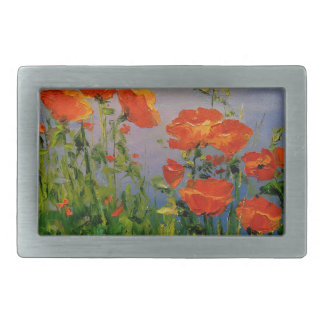 Poppies near the river belt buckles