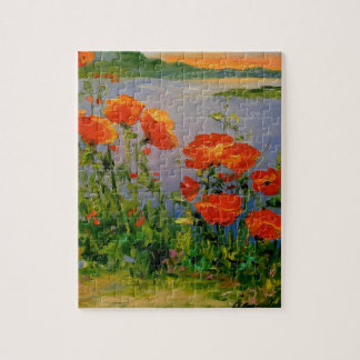 Poppies near the river jigsaw puzzle