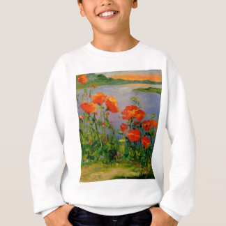Poppies near the river sweatshirt
