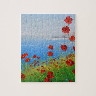 Poppies near the sea jigsaw puzzle