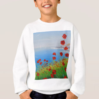Poppies near the sea sweatshirt