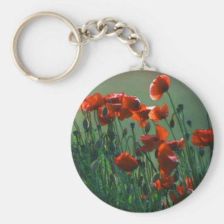 Poppies No. 3 | Keyring Basic Round Button Key Ring