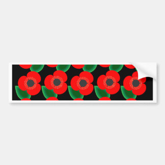 Poppies on Black Bumper Sticker