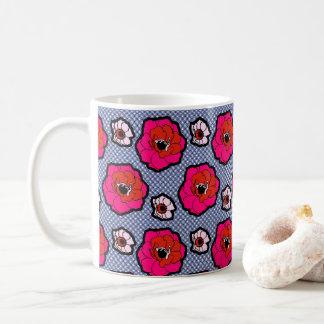 Poppies On Blue Mug