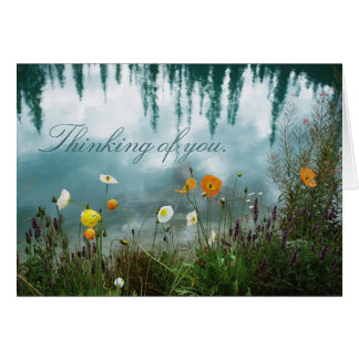 Poppies on Water Condolence Card Greeting Card
