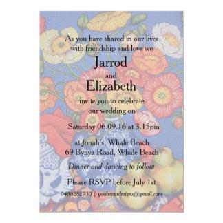 Poppies & Pears Wedding Invite