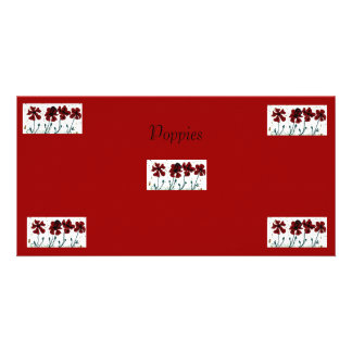 Poppies Custom Photo Card