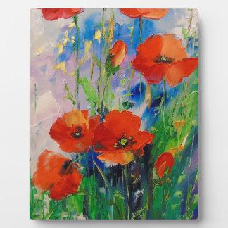Poppies Plaque