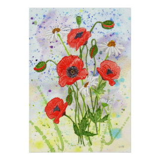 'Poppies' Poster