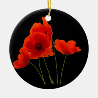 """Poppies"" Round Ceramic Decoration"