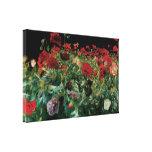 Poppies, Sargent, Vintage Realism Flowers Art Stretched Canvas Prints