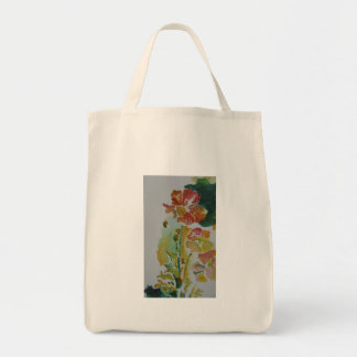 Poppies sketch tote bag