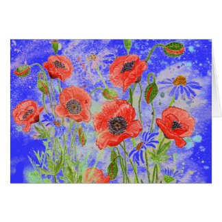 'Poppies Surreal' Card