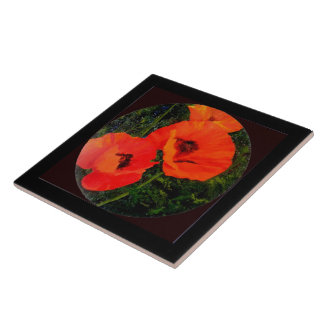 Poppies to remember tile