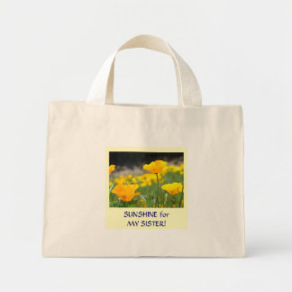 Poppies TOTE BAG gifts Sunshine for MY SISTER