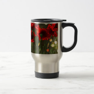 Poppies Travel Mug