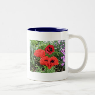 POPPIES! Two-Tone COFFEE MUG