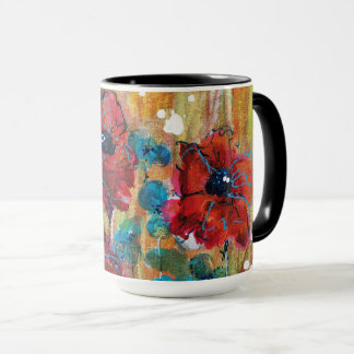 Poppies with Blue Mug