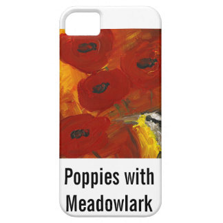 Poppies with Meadowlark iPhone case