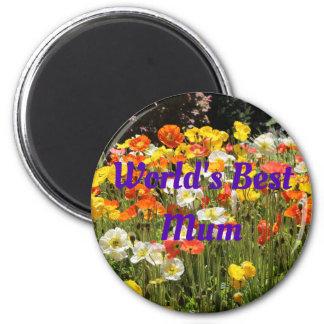 Poppies- World's Best Mum Magnet