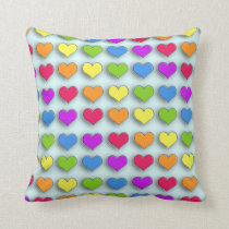 Poppin Retro Hearts Cushion