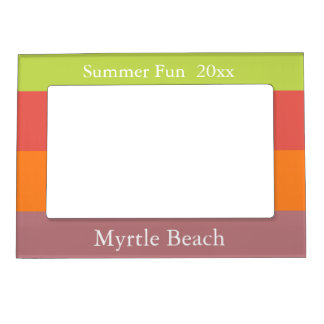 Popping Cupcakes Palette Stripe Personalized Magnetic Picture Frame