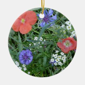 Poppy, Alyssum & Bachelor Buttons Ornament