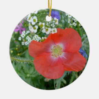 Poppy & Alyssum Ornament