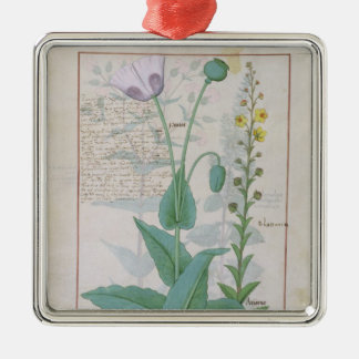 Poppy and Figwort Christmas Ornament