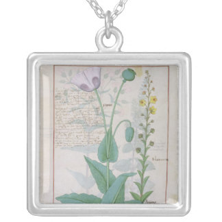 Poppy and Figwort Silver Plated Necklace