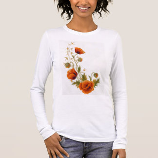 Poppy art long sleeve T-Shirt
