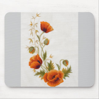 Poppy art mouse mat