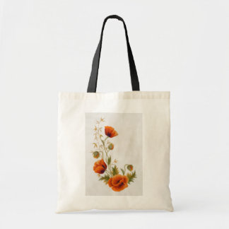 Poppy art tote bag