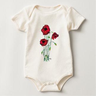 poppy baby bodysuit