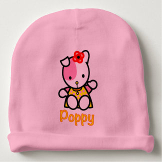 Poppy baby cotton beanie hat baby beanie