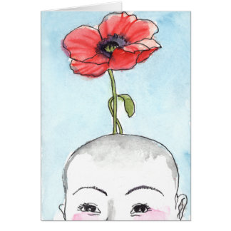 """""""Poppy Baby"""" greeting card, new baby Card"""