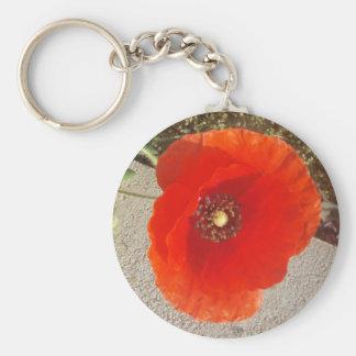 Poppy Basic Round Button Key Ring