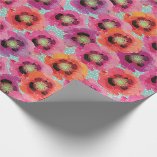 Poppy Blossoms Wrapping Paper
