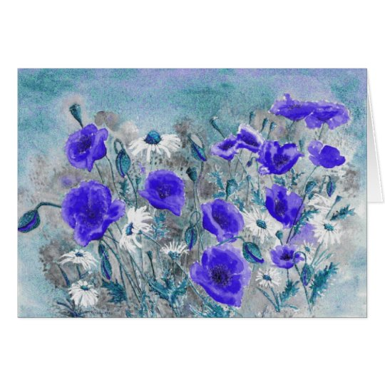 'Poppy Blue' Card