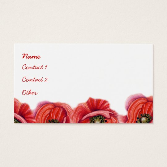 Poppy Border Profile Card