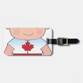 Poppy Canadian Boy Luggage Tag