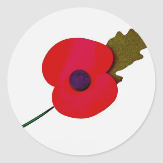 poppy classic round sticker