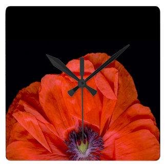 """""""Poppy-clock""""! Square Wall Clock"""