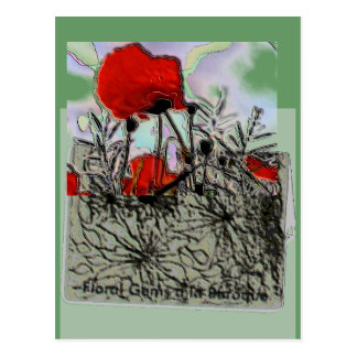 Poppy Collage Postcard