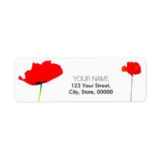 POPPY Collection (05) Return Address Labels