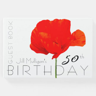 POPPY Collection 50th Birthday Guest Book