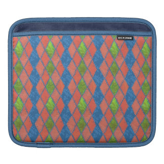 Poppy Colours Faux-patchwork iPad Sleeve