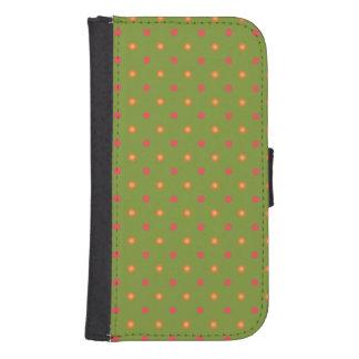 Poppy Colours Polka Dots, Wallet Smartphone Case